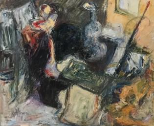 Studio corner - Oils